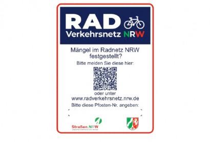 Radregion Münsterland: Neue Druckvorlage für Pfostenaufkleber