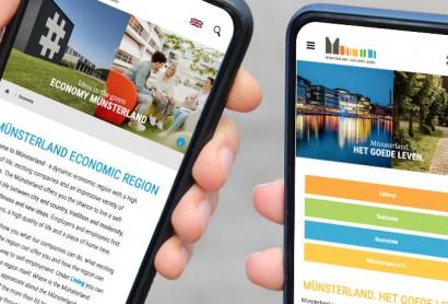 Regions-Portal muensterland.com jetzt auch auf Englisch und Niederländisch abrufbar